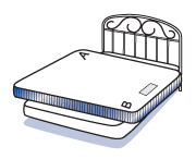 2. Position it across the bed